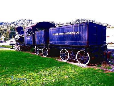 Photograph - Locomotive Steam Engine by Sadie Reneau