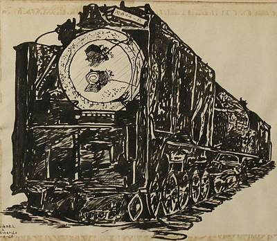 Drawing - Locomotive Study by Michael Anthony Edwards