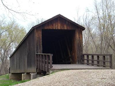 Locust Creek Covered Bridge Art Print by Mark McReynolds