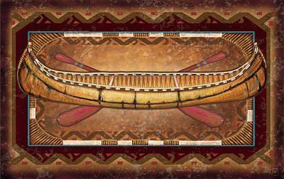 Lodge Canoe Art Print