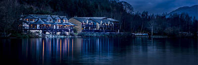 Photograph - Lodge On Loch Lomand Scotland by Alex Saunders