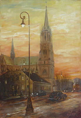 Painting - Lodz - Cathedral Church by Irek Szelag