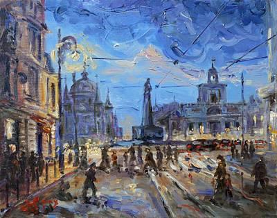 Painting - Lodz - Plac Wolnosci by Irek Szelag