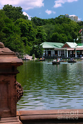 Loeb Boathouse Central Park Art Print by Amy Cicconi