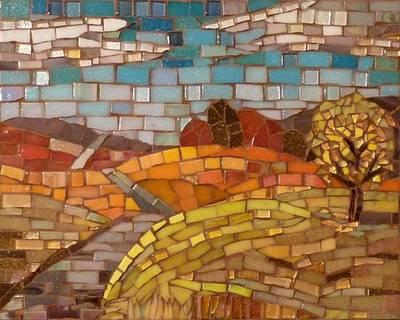 Glass Art - Loess Hills by Julie Mazzoni