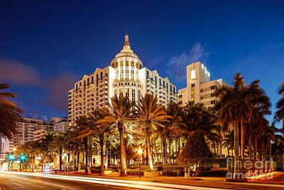 Keith Richards - Loews and St. Moritz Hotel on Collins Avenue at Dawn - Miami Beach Florida by Silvio Ligutti