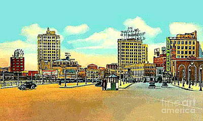 Loew's Jersey Theatre On Journal Square In Jersey City N J In The 1930s Art Print