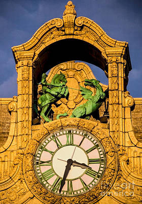 Loews Theatre Clock - Jersey City Art Print by James Aiken