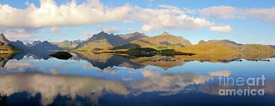 Lofoten Panorama Selfjorden Norway Art Print by Heiko Koehrer-Wagner
