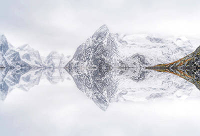 Lofoten Reflection Art Print by Ignacio Palacios