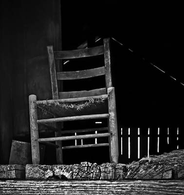 Photograph - Loft Chair 2 In B/w by Greg Jackson