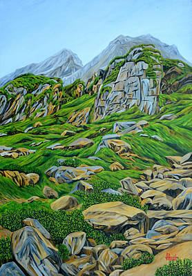 Lofty Rocks In Himalaya Original