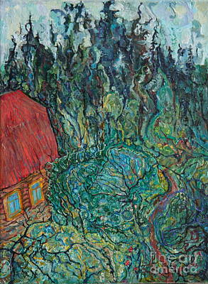 Painting - Log Cabin by Anna Yurasovsky
