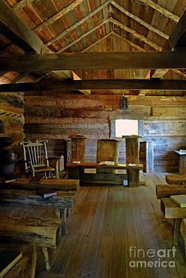 Log Cabin Photograph - Log Cabin Appalachian Church by Paul W Faust -  Impressions of Light