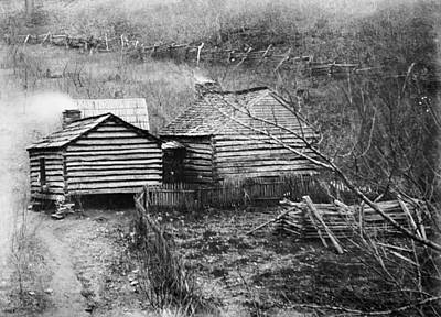 Photograph - Log Cabin, C1909 by Granger
