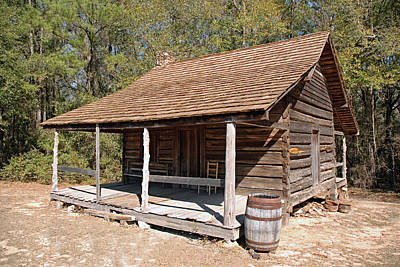 Photograph - Log Cabin by Charles Beeler