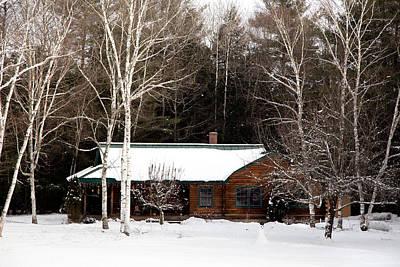Log Cabin Photograph - Log Cabin by Courtney Webster