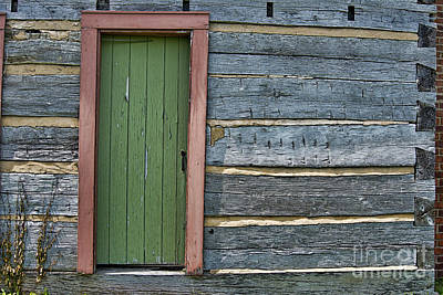 Photograph - Log Cabin Door by David Arment