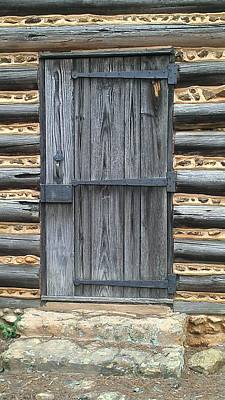 Photograph - Log Cabin Door by Lew Davis