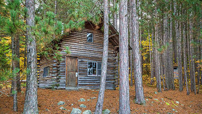 Photograph - Log Cabin In The Eastern Townships by Pierre Leclerc Photography