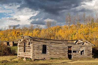 Photograph - Log Cabin In The Tetons by Kathleen Bishop
