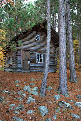 Photograph - Log Cabin In The Woods by Pierre Leclerc Photography