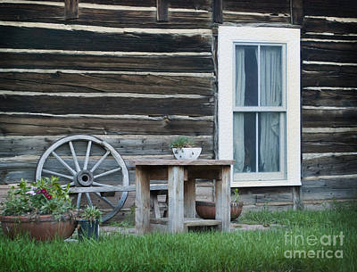 Old Miner Photograph - Log Cabin by Juli Scalzi