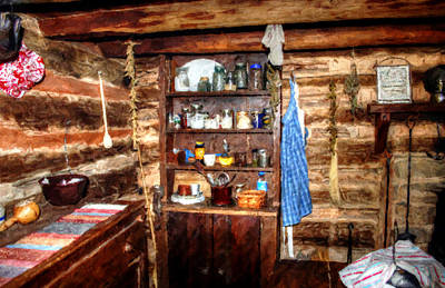 Photograph - Olde Fashion - Log Cabin Living Room by Doc Braham