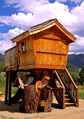 Photograph - Log Cabin Penthouse by Jeff Gater