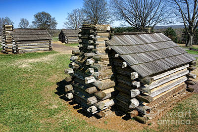 Photograph - Log Cabins At Valley Forge by Olivier Le Queinec