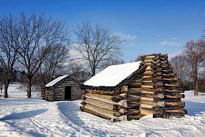 Log Cabins In Snow Art Print by Olivier Le Queinec