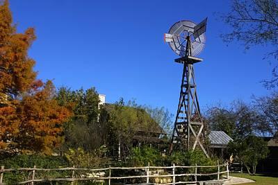 Log Cabins Windmill Art Print