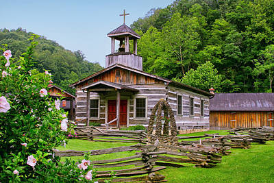 Photograph - Log Church by Mary Almond