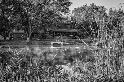 Photograph - Log Home Across The Pond by Gene Sherrill