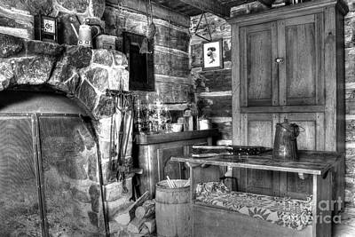 Photograph - Log Home Kitchen by Steven Parker