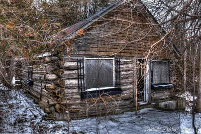 Photograph - Log House by Michaela Preston