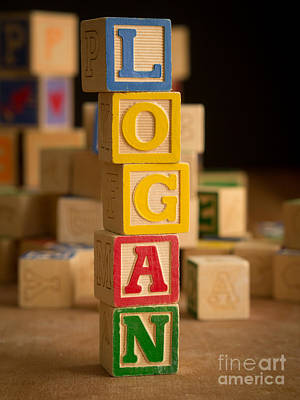 Photograph - Logan - Alphabet Blocks by Edward Fielding