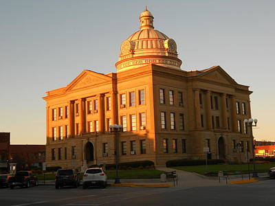 Logan County Courthouse  Lincoln Art Print