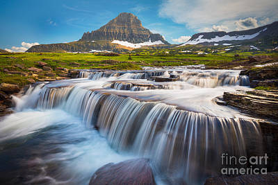 Reynolds Photograph - Logan Pass Falls by Inge Johnsson