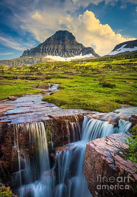 Photograph - Logan Pass Landscape by Inge Johnsson