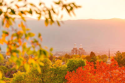 Mormon Temple Photograph - Logan Temple by Emily Dickey