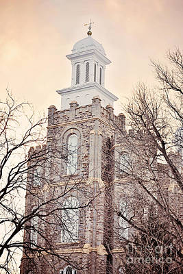 Logan Temple Photograph - Logan Temple In The Haze by Lindee Dorsey