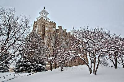 Photograph - Logan Temple Winter by David Andersen