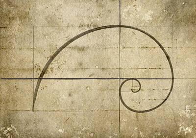 Number 34 Digital Art - Logarithmic Spiral by Brett Pfister