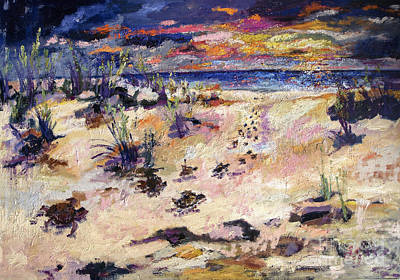 Painting - Loggerhead Beach Sunset by Ginette Callaway