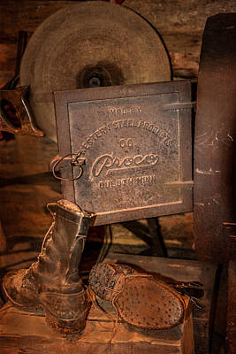 Duluth Photograph - Logging Boots by Paul Freidlund