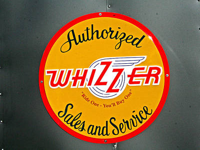 Photograph - Logo For Whizzer by Joseph Coulombe