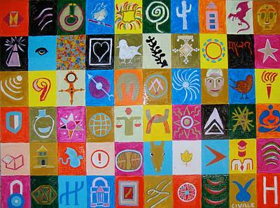 Painting - Logos And Symbols by Biagio Civale