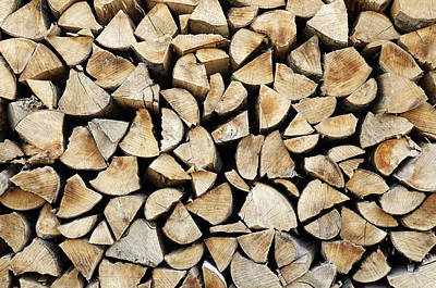 Logs Background Art Print