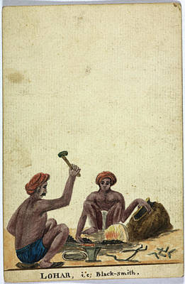 Watercolor Tools Photograph - Lohar by British Library